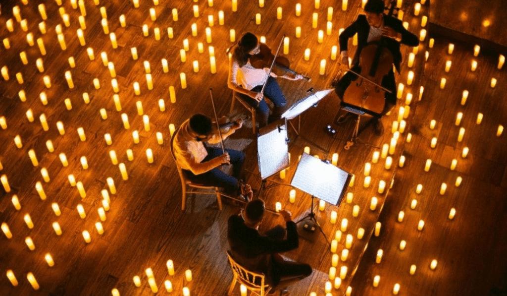 Des concerts à la bougie sur le thème des musiques de films sous le Chapitô de Lille !