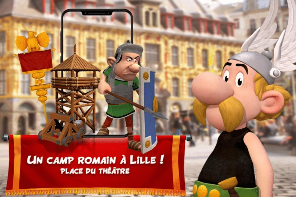 Capturez les personnages d'Astérix dans un jeu en réalité augmentée à Lille !