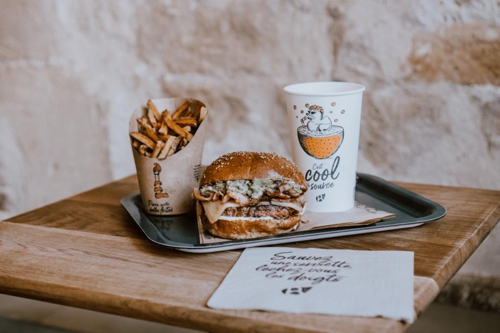 Formule burger frites boisson bioburger