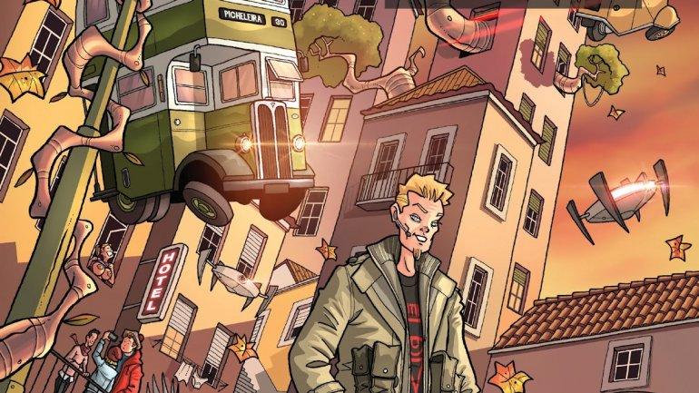 Watchers: A Lisboa retrofuturista num livro de BD