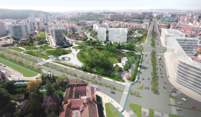 A nova Praça de Espanha vai ser um enorme parque verde