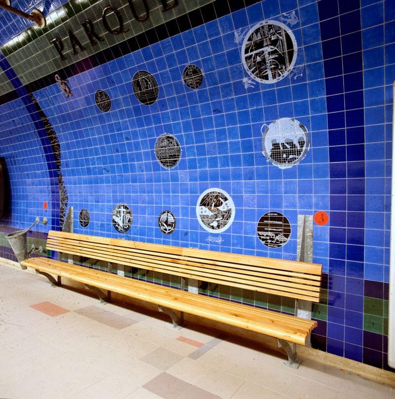 estação de metro do parque em lisboa