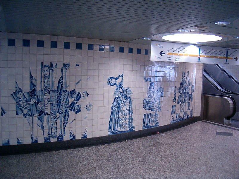 estação de metro de campo grande em lisboa
