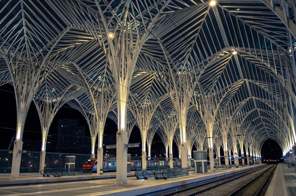 estação de metro oriente em lisboa