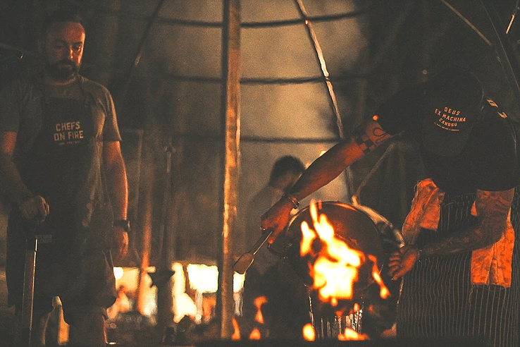 Chefs On Fire a cozinhar