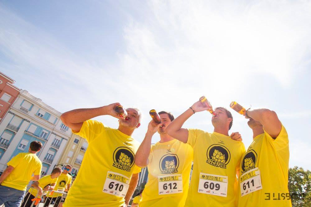 Lisbon Beer Mile: vem aí a corrida onde bebes cerveja enquanto corres