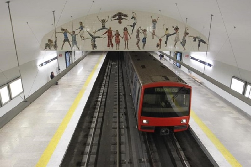 Novas obras na estação de Metro do Areeiro