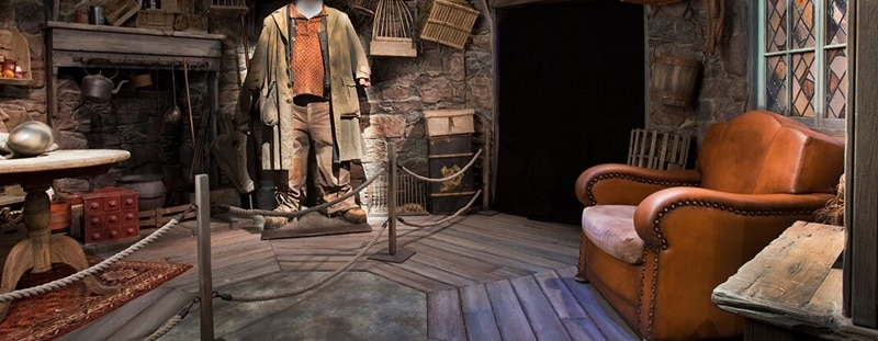 cenário dos filmes de Harry Potter, na exposição @Harry Potter™️: The Exhibition