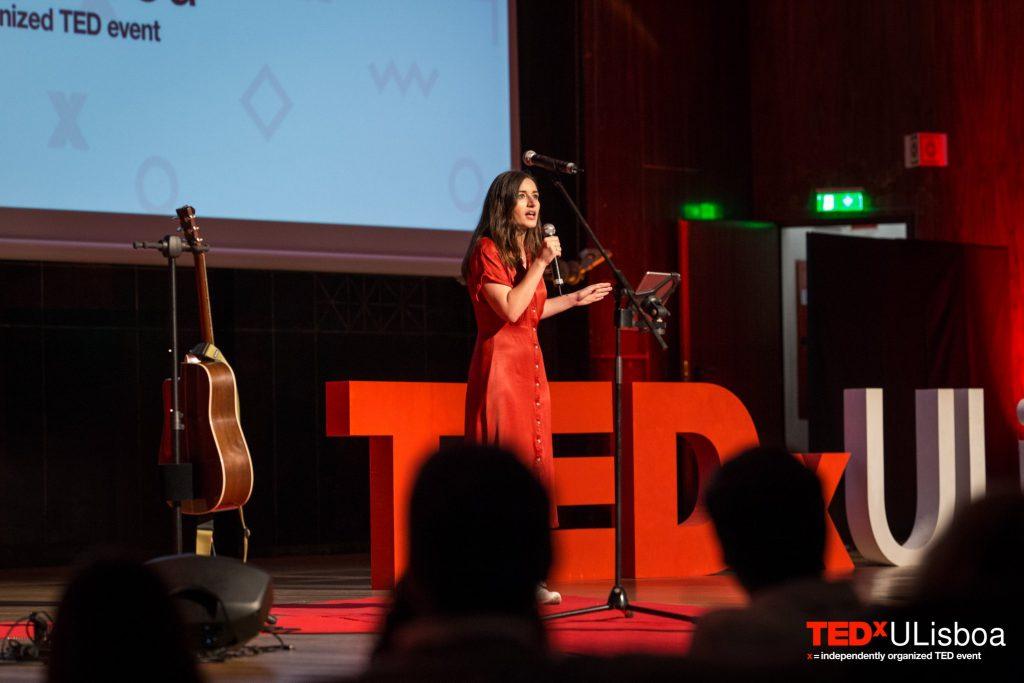 oradora na primeira edição do TEDxULisboa