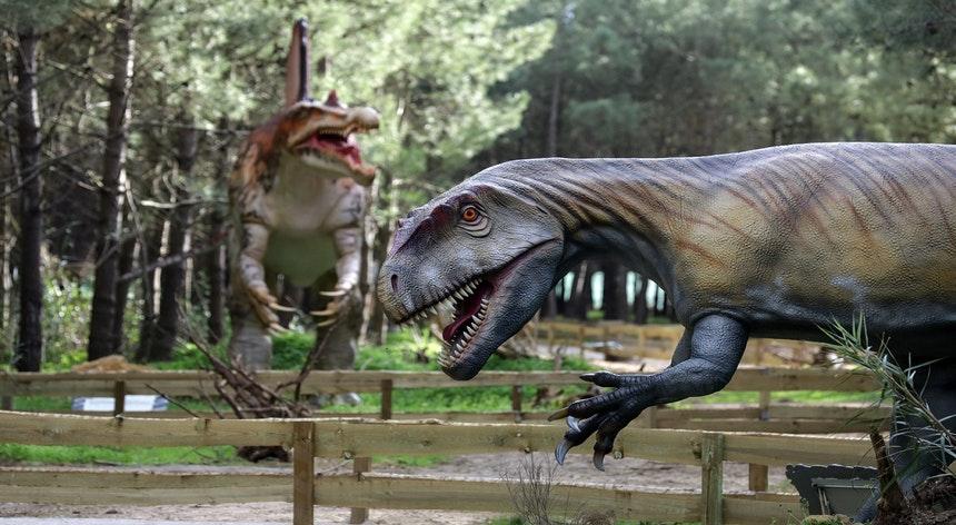 dinossauros no Dino Parque