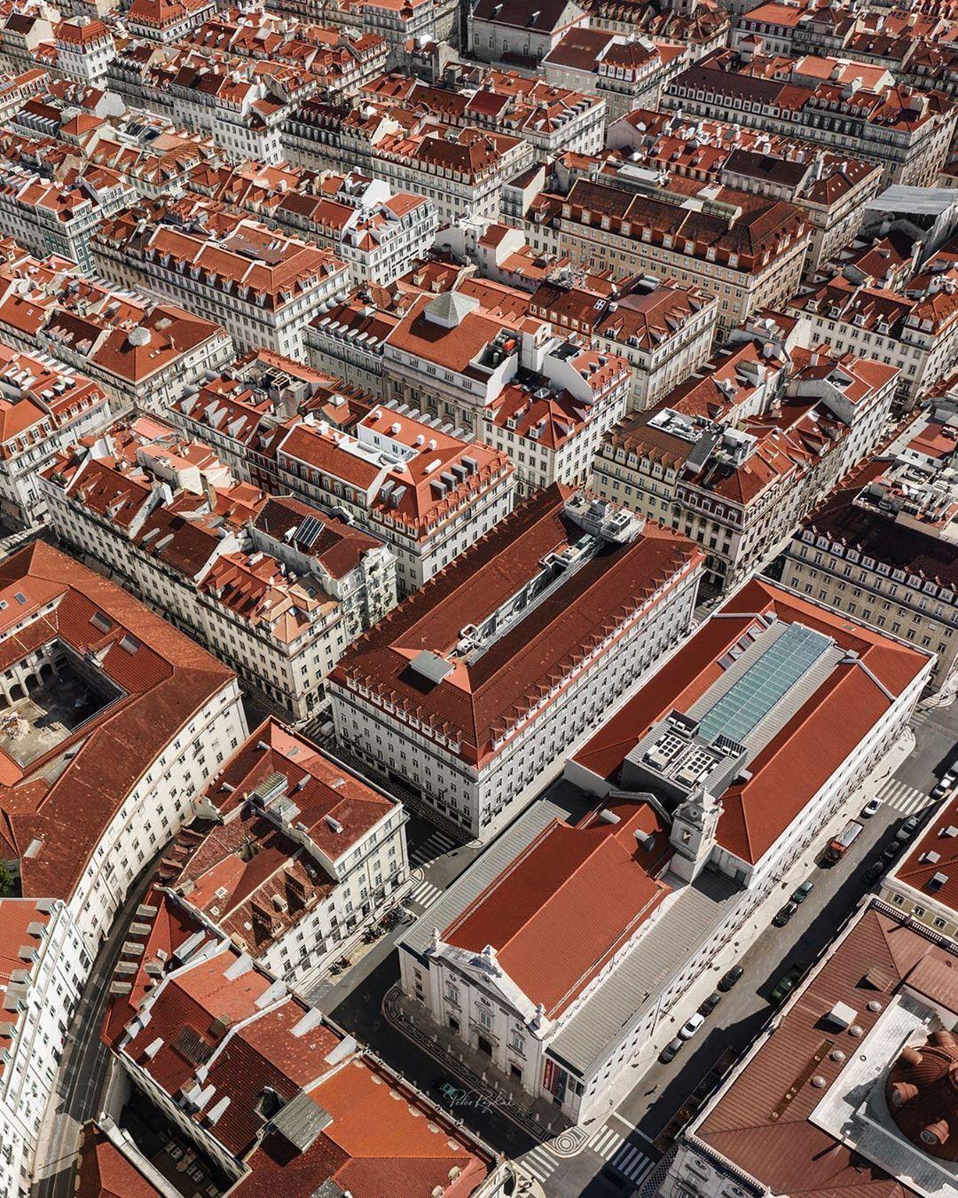 Baixa de Lisboa vista de cima