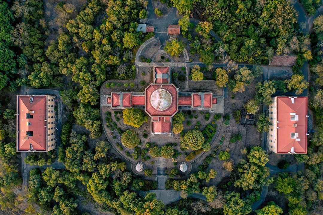 Observatório Astronómico de Lisboa visto de cima