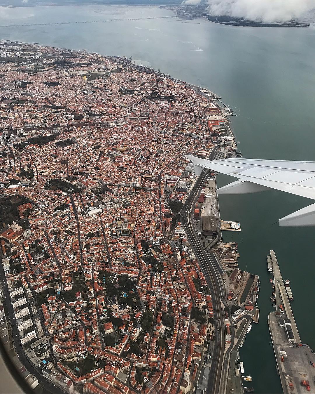 Cidade de Lisboa vista de cima