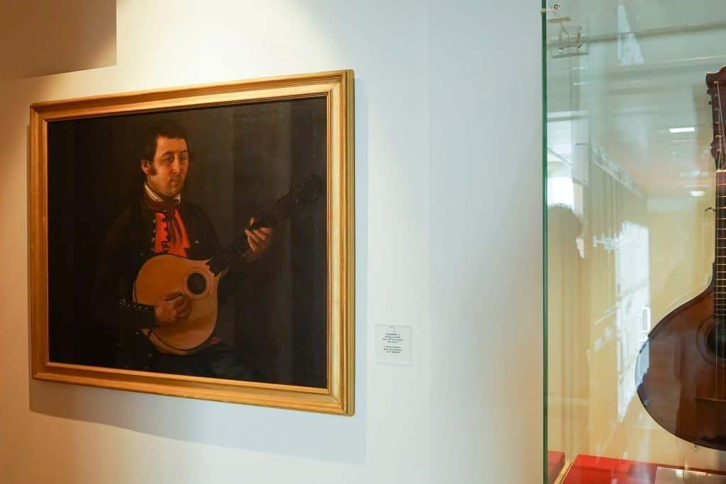 pintura no Museu do Fado, em Alfama, Lisboa
