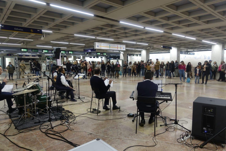 concertos de natal no metro de lisboa