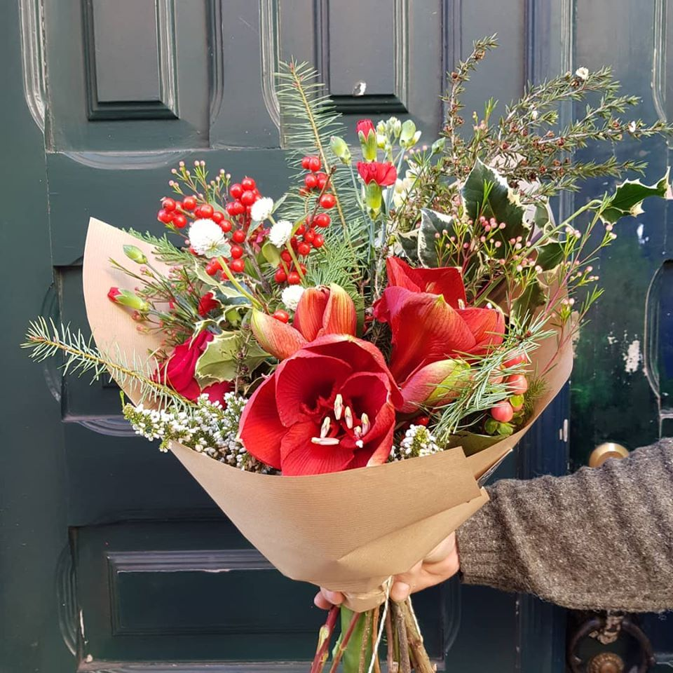oferta de um ramo de flores