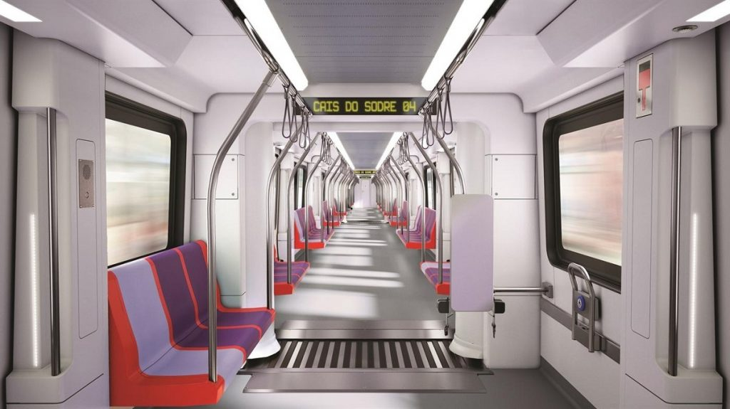 novas carruagens do metro de lisboa