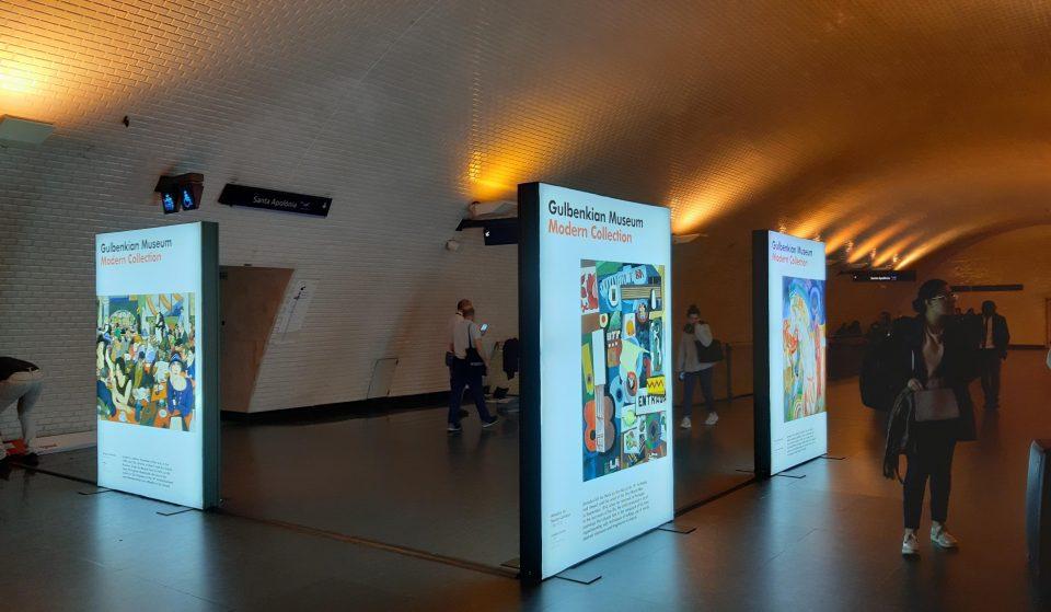 Há arte da Gulbenkian nas estações de metro Baixa-Chiado e Aeroporto