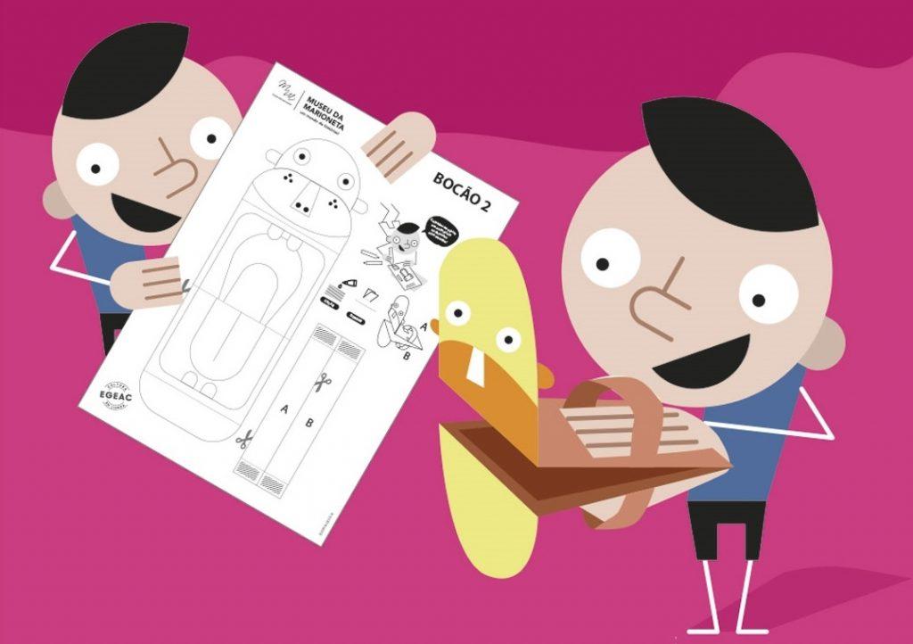 cartaz de ateliers do museu da marioneta