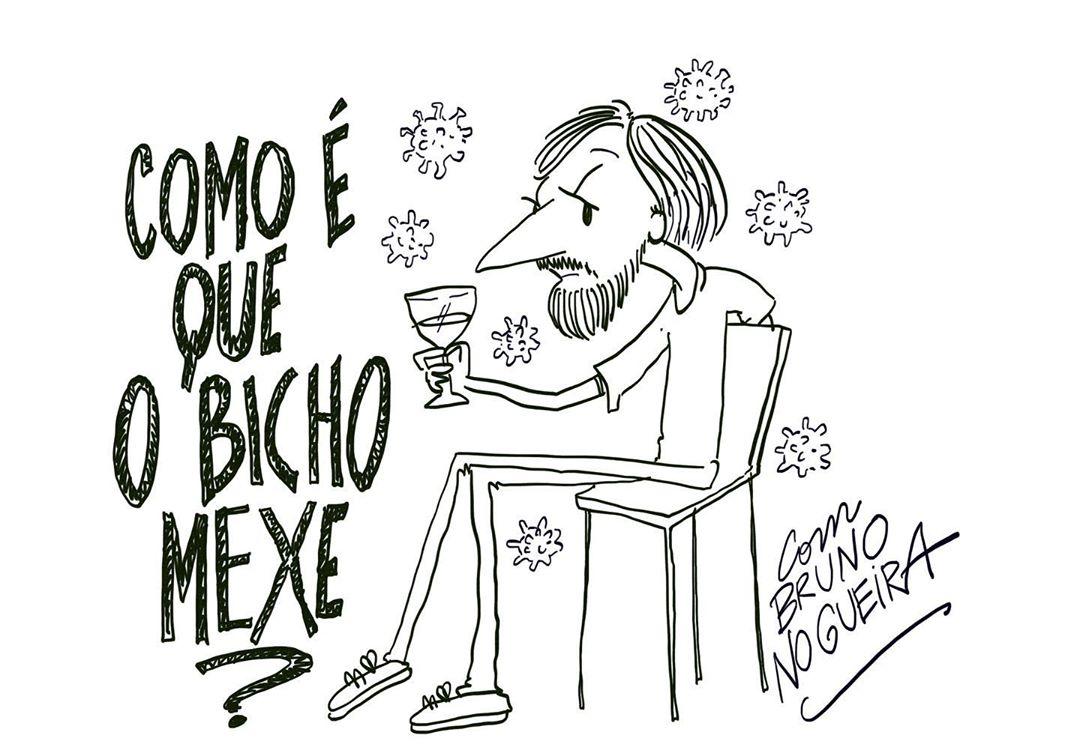 Ilustração de Nuno Markl para o perfil de instagram @corpodormente