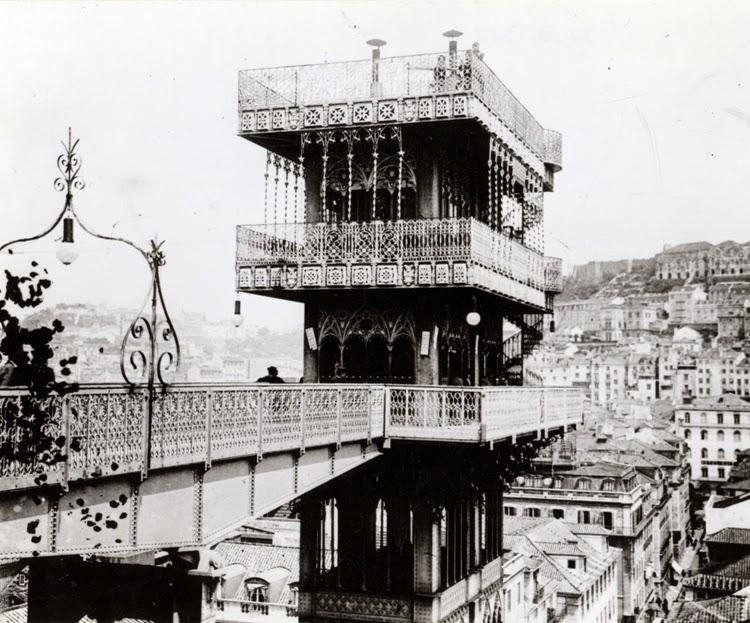 elevador de santa justa em 1902