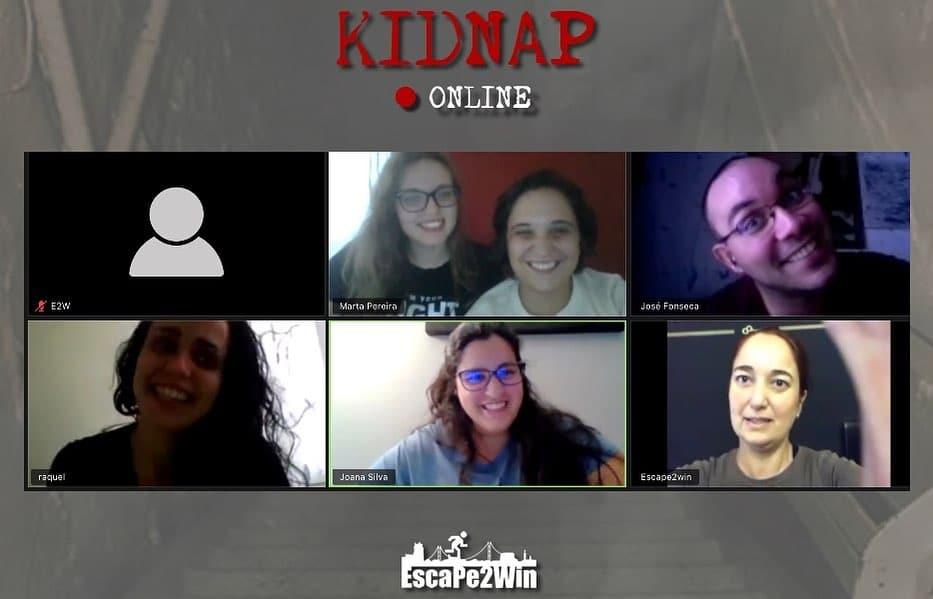 videochamada de escape room kidnap