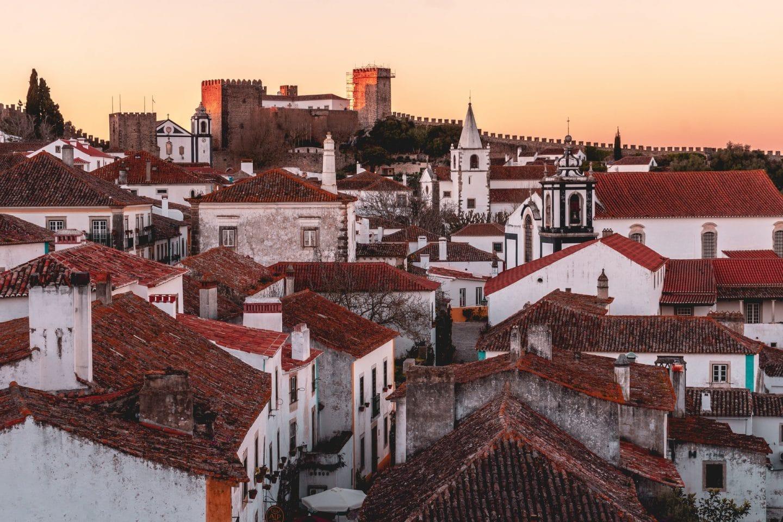 vila de óbidos vista de cima