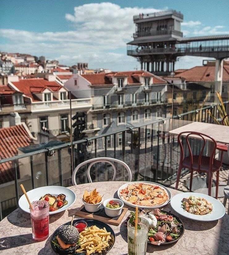 comida em cocktails no TOPO Martim Moniz
