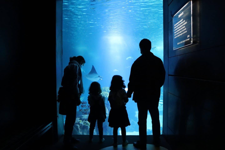 visita de família ao Oceanário de Lisboa
