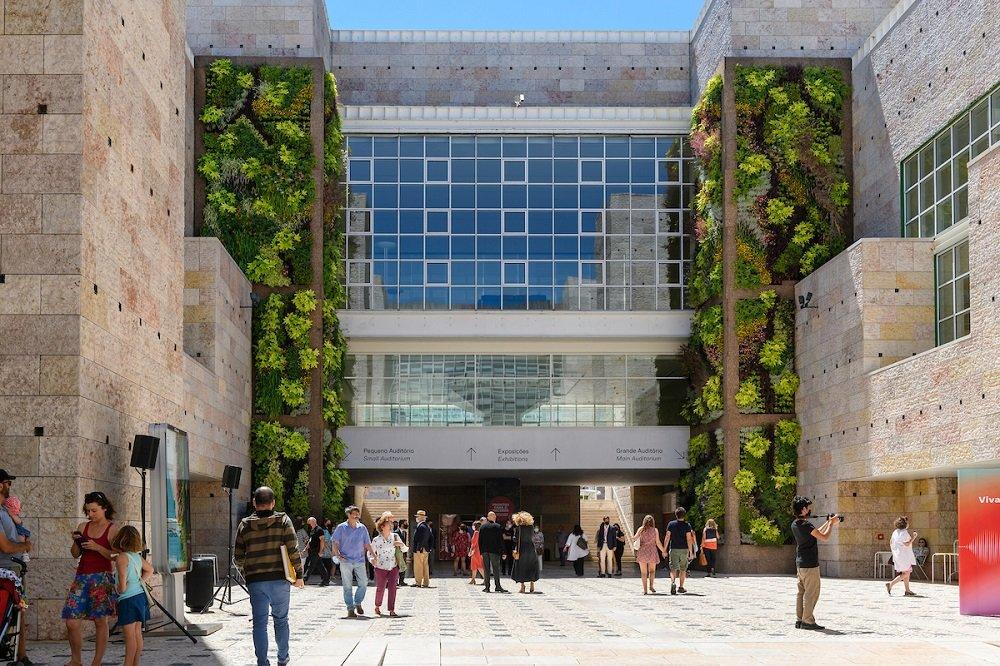 jardim vertical no CCB em lisboa
