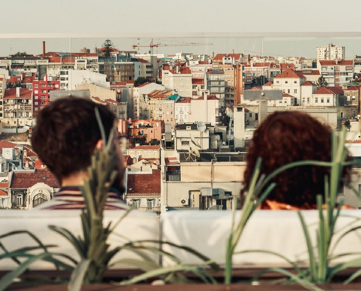 vista do Level Eight Rooftop Bar