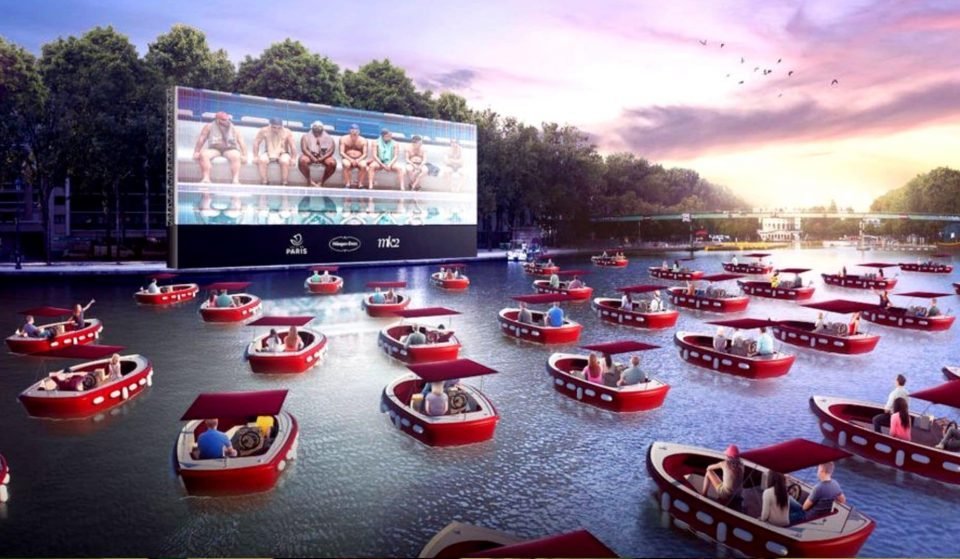 Paris vai ter um cinema flutuante durante uma noite e nós também queremos um
