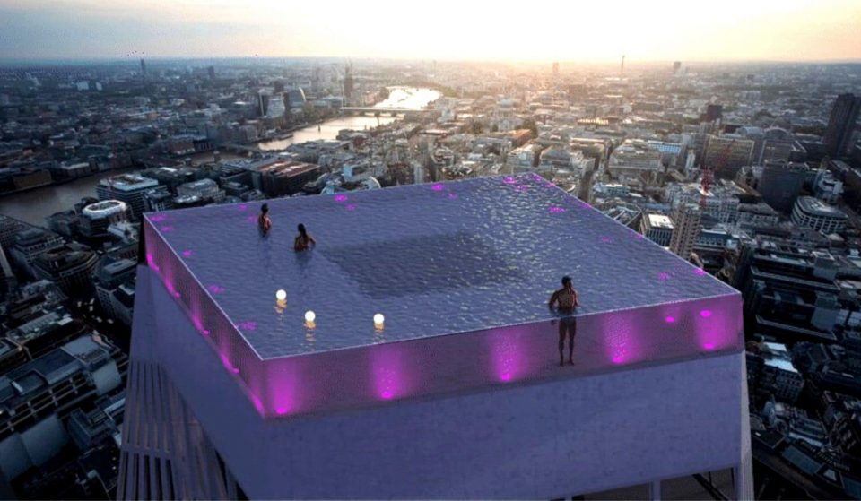 Londres vai ter a primeira piscina do mundo instalada num rooftop, com vista de 360°