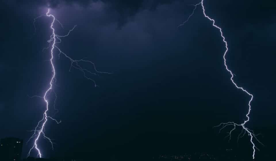 Algumas imagens impressionantes da tempestade de ontem