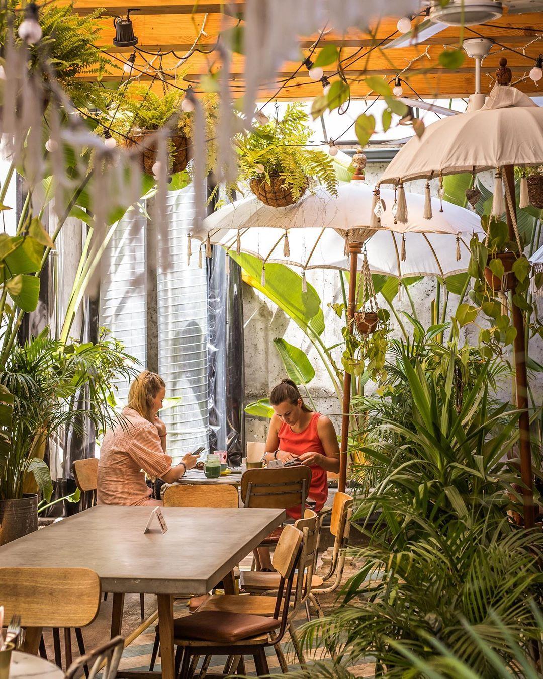 esplanada tropical do Amélia Lisboa Café