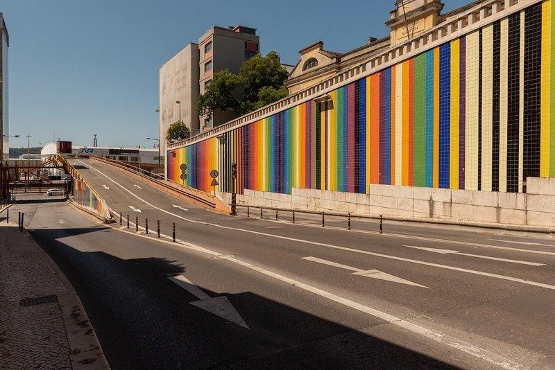 Viaduto da Avenida Infante Santo está em obras