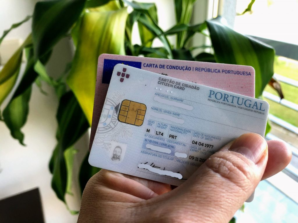 cartão de cidadão e carta de condução