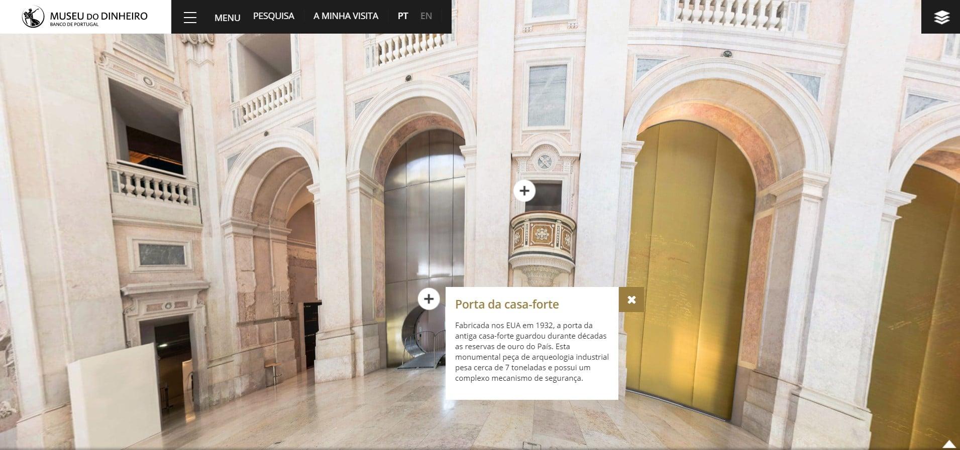 museus nacionais - visita virtual museu do dinheiro