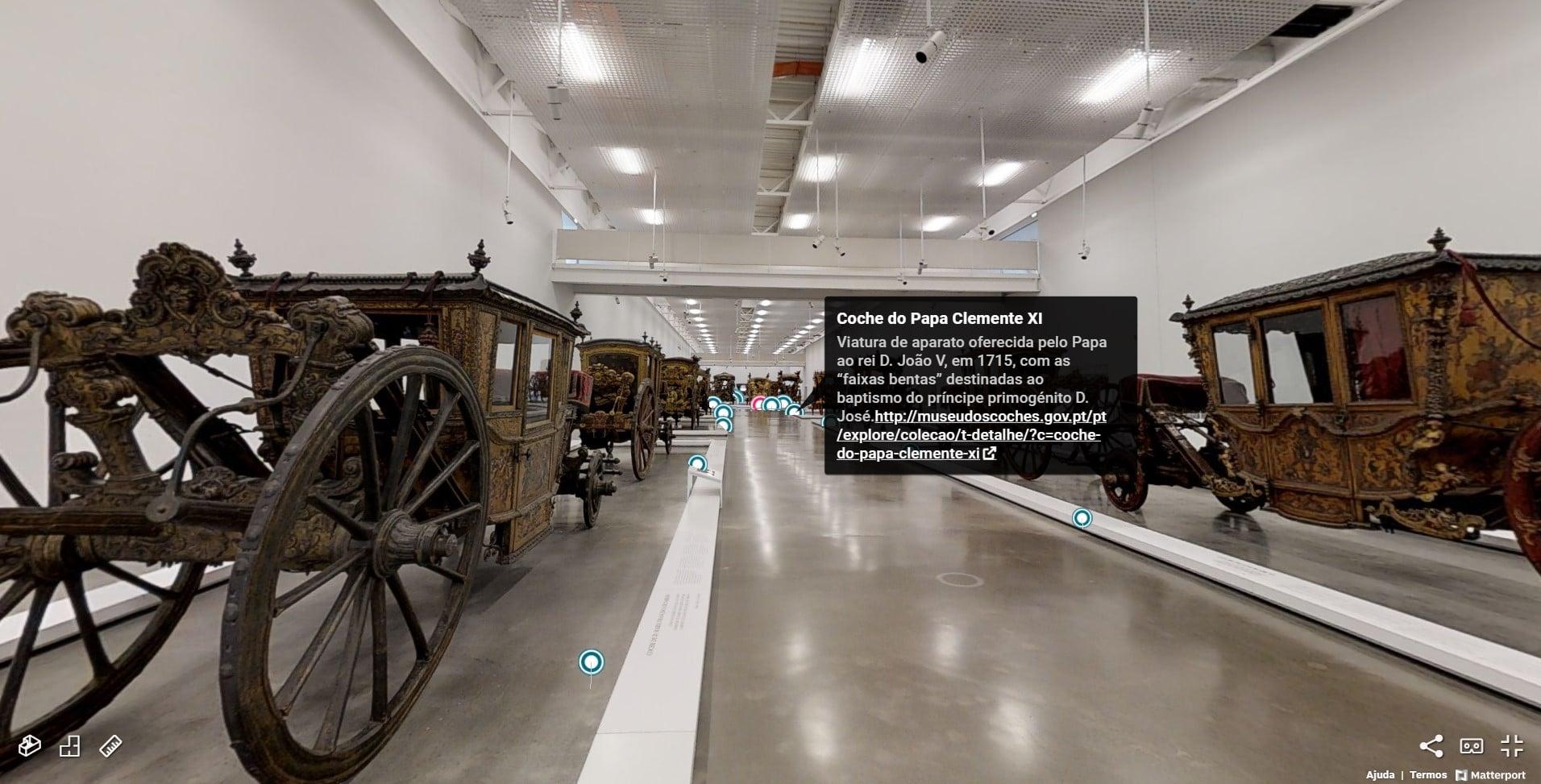 museus nacionais - visita virtual museu dos coches
