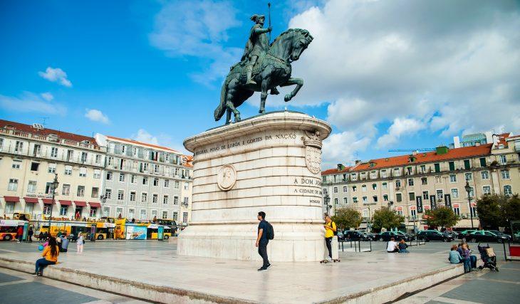 Estátuas de Lisboa: Rei D. João I, na Praça da Figueira