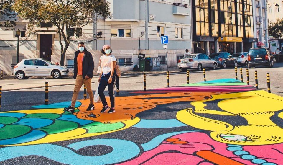 A arte urbana saiu dos muros para o chão, em Arroios
