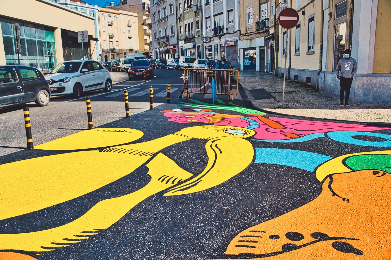 ruas pintadas em Arroios
