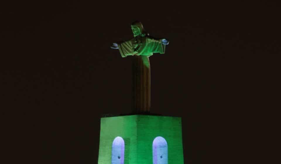 Lisboa celebra Dia de São Patrício com iluminação de Cristo Rei e estátua de D. José I