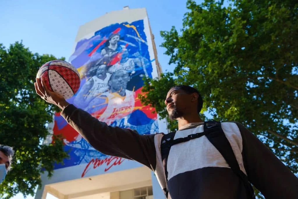 Kobe Bryant é arte urbana em Lisboa