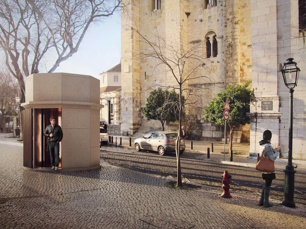 Há um novo elevador entre o Campo das Cebolas e a Sé de Lisboa