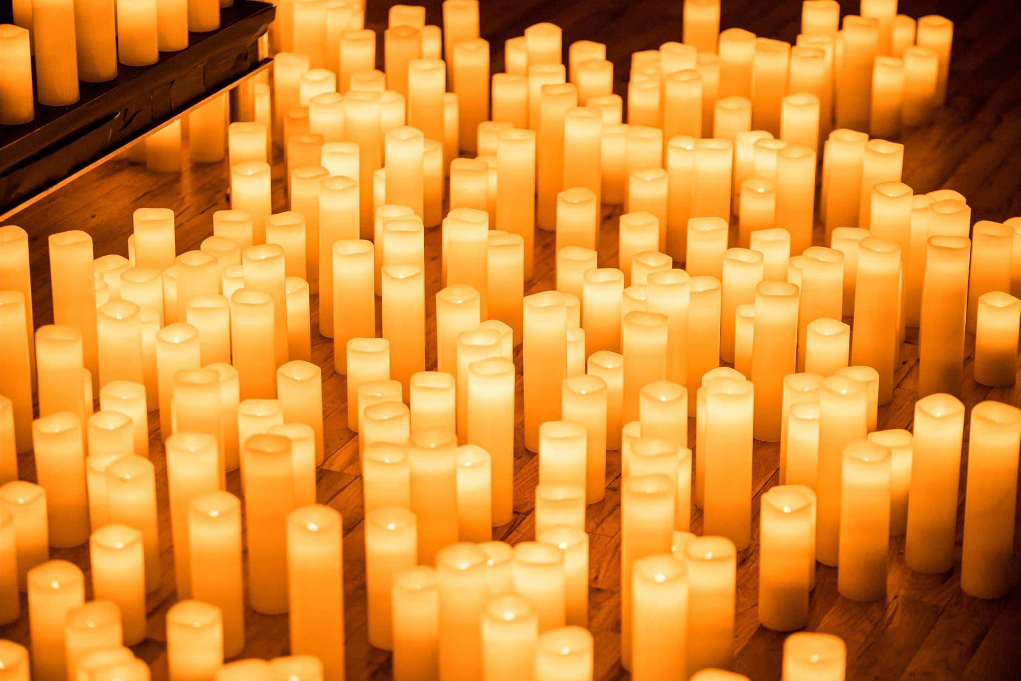 velas para os concertos candlelight
