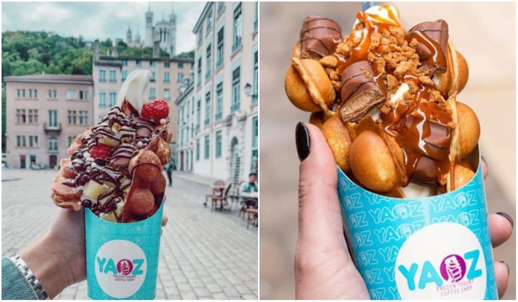 Yaoz : le temple de la glace et des bubble waffles du Vieux-Lyon !