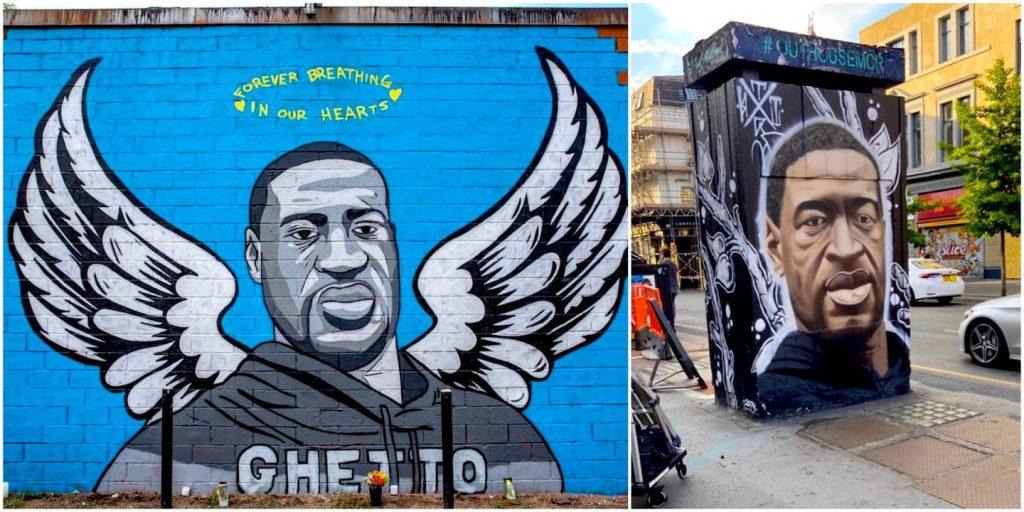 Street art : des artistes rendent hommage à George Floyd dans le monde entier !