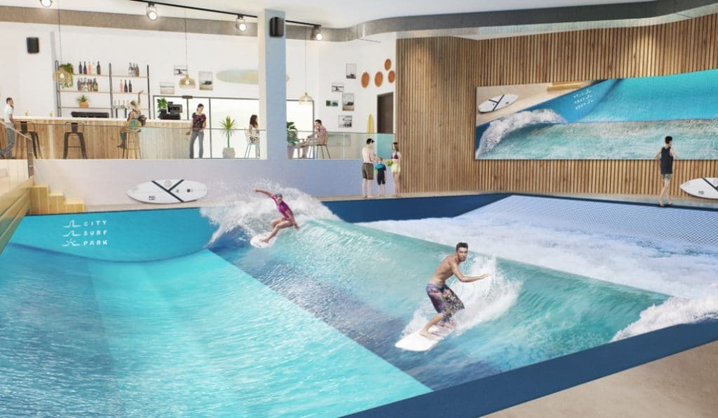 City Surf Park : la plus grande vague de surf indoor d'Europe !