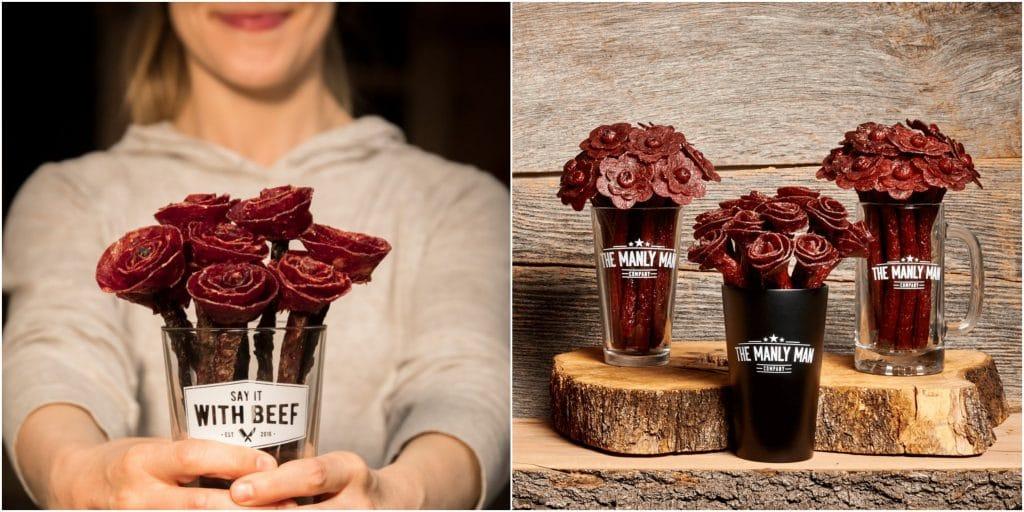 Insolite : déclarez votre flamme avec un bouquet de fleurs de charcuteries !